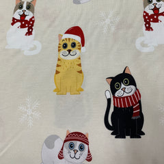 Holiday Cats on Bamboo/Spandex Jersey