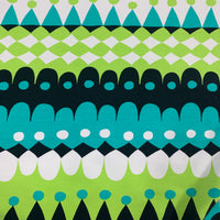 Jussi Turquoise and Green on Organic Cotton/Spandex French Terry