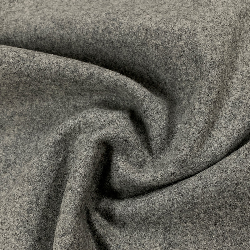 Gray Heather Merino Wool Coating