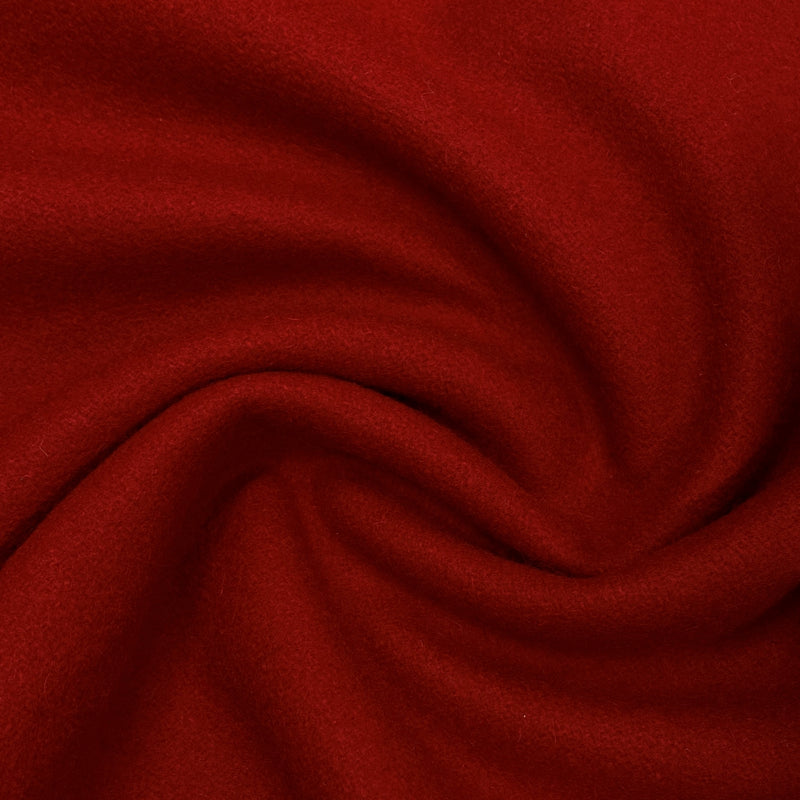 Red Merino Wool Coating