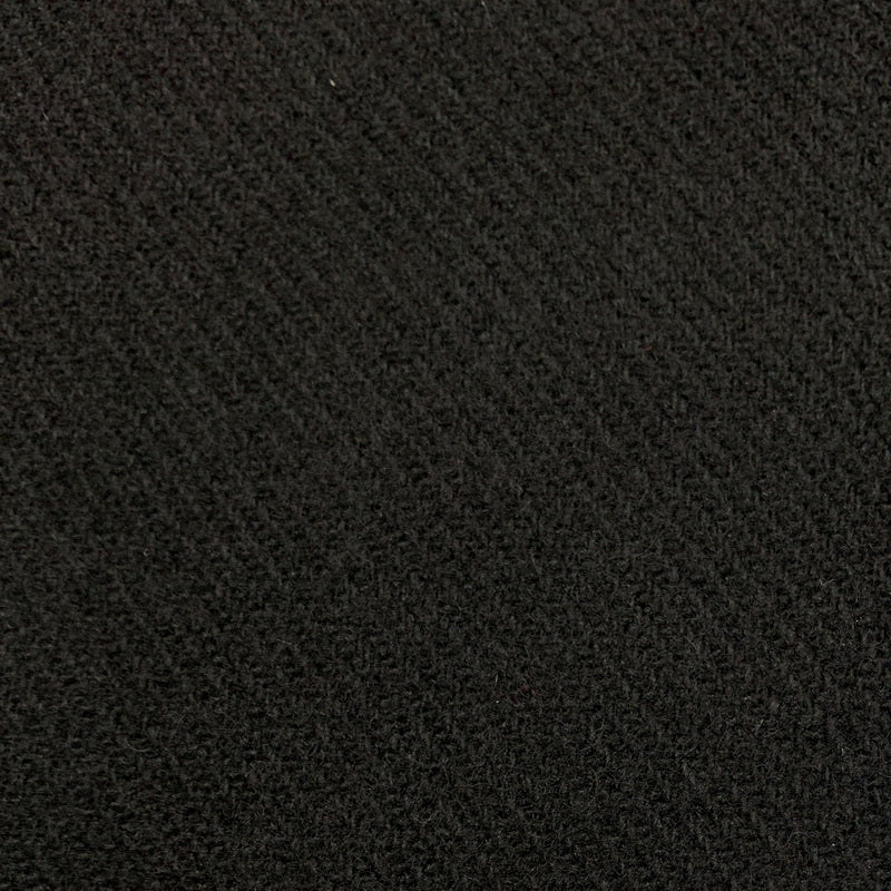 Black Diagonal Merino Wool Coating