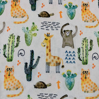 Animal Pals on Pale Yellow 1 mil PUL - Made in the USA