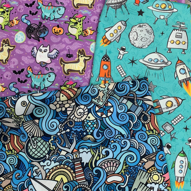 Polyester PUL, $15.25/yd, 15 Yards - Your Choice of One Print