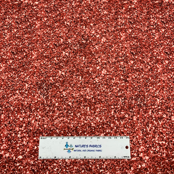 Red Glitter 1 mil PUL - Made in the USA