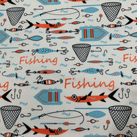 Gone Fishing 1 mil PUL - Made in the USA