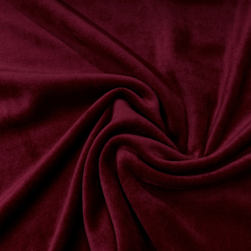 Dark Burgundy Cotton Velour