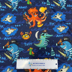 Sea Creature Pirates 1 mil PUL - Made in the USA