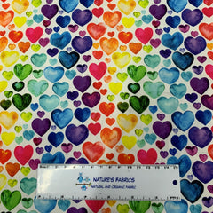 WaterColor Hearts 1 mil PUL - Made in the USA