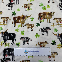 Lucky Cows 1 mil PUL - Made in the USA