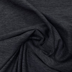 Dark Gray Space Dye on Poly/Spandex Jersey - Nature's Fabrics