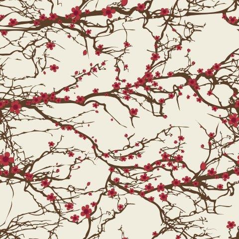 Cherry Blossoms 1 mil PUL - Made in the USA - Nature's Fabrics