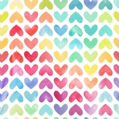 Pastel Hearts on Bamboo/Spandex Jersey - Nature's Fabrics