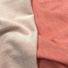 Peach Heather Bamboo Stretch French Terry