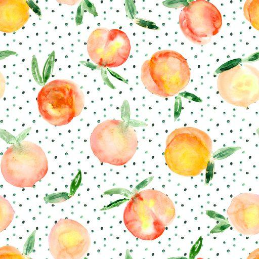 Pink Peaches on Bamboo/Spandex Jersey