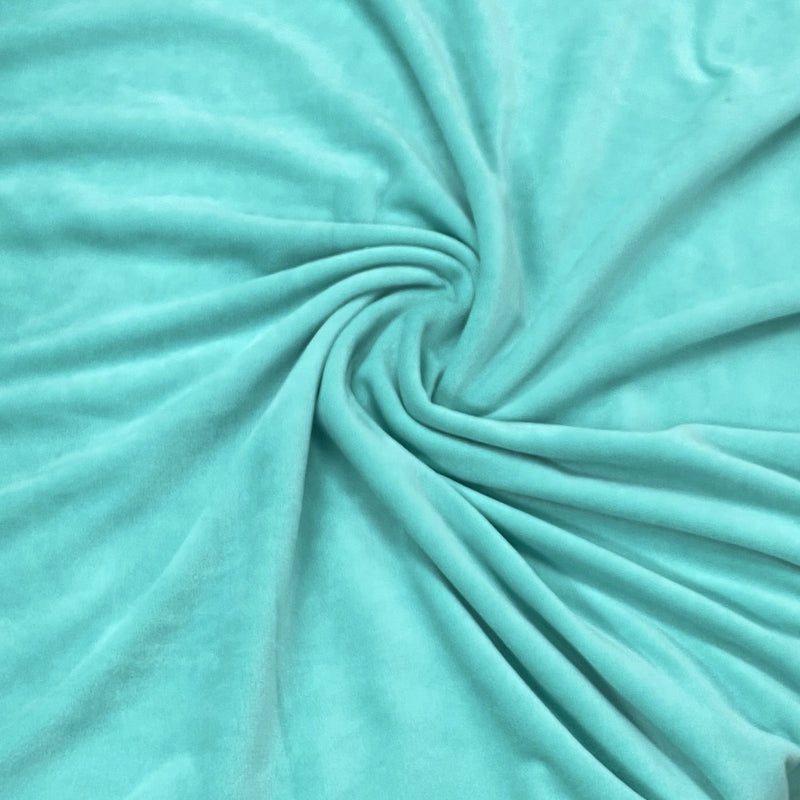 Spearmint Organic Cotton Velour, $7.63/yd - Rolls
