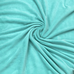 Spearmint Organic Cotton Velour, $7.63/yd - Rolls - Nature's Fabrics