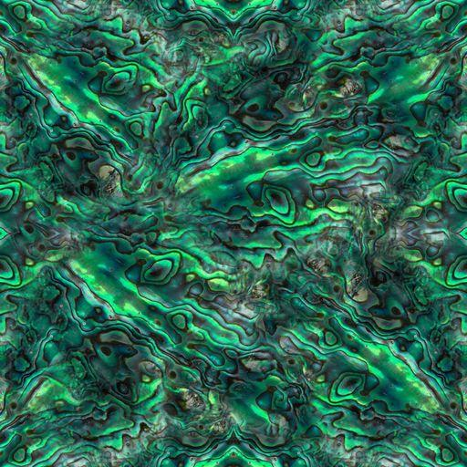 Green Abalone on Bamboo/Spandex Jersey - Nature's Fabrics