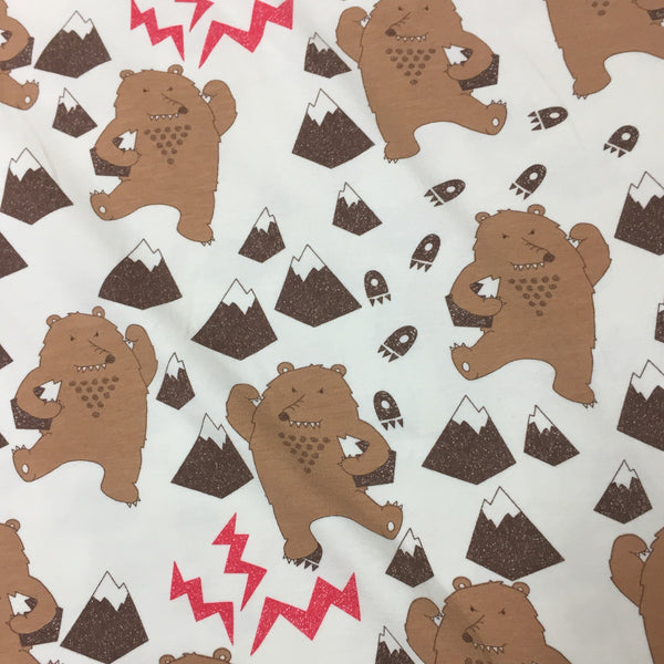 Angry Bear on Organic Cotton/Spandex Jersey