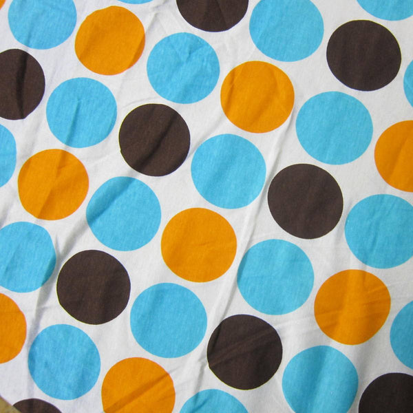 Anita G Big Dots on White Cotton/Spandex Jersey