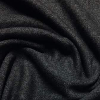 Anthracite Lambswool Stretch Jersey