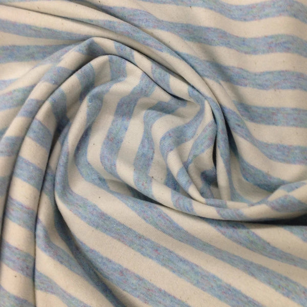 Baby Blue and Natural Eco Stripe