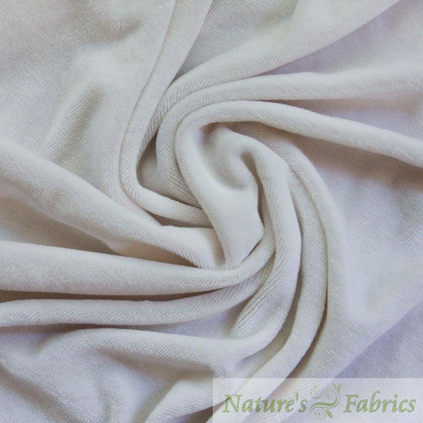 Natural Bamboo Velour - 280 GSM, $8.45/yd - Rolls