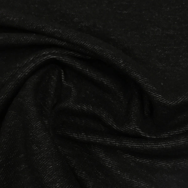 Black Organic Cotton/Spandex Denim