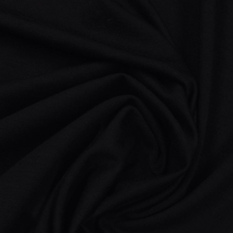 Black Tencel/Spandex Fleece
