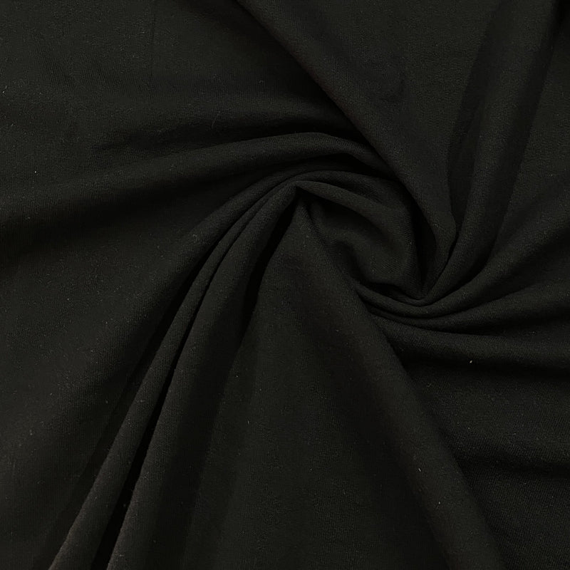 Black Organic Cotton Fleece - 280 GSM
