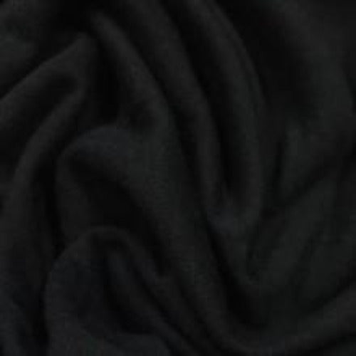 Black Bamboo Hemp Stretch Jersey, 310 GSM, $12.15/yd - Rolls