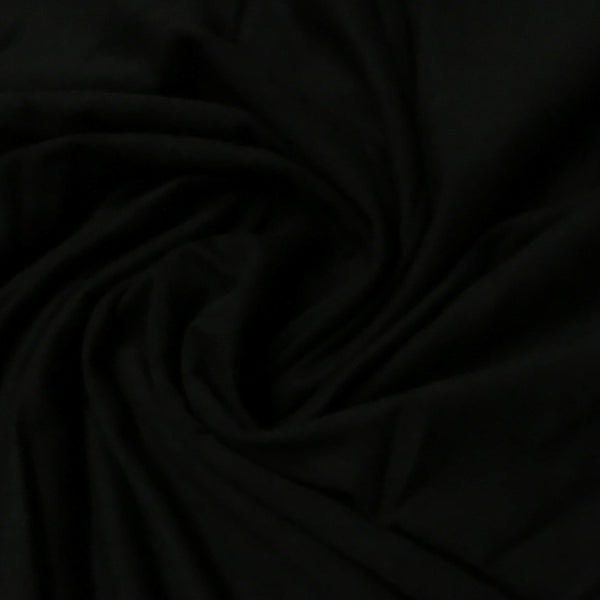 Black Bamboo/Spandex Jersey - 380 GSM, $12.40/yd, 15 yards