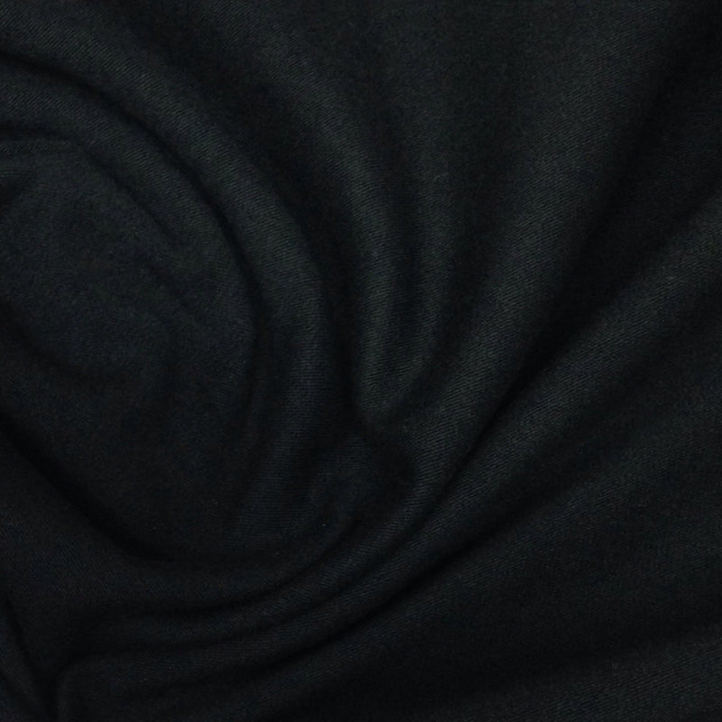 Black Organic Cotton/Spandex Jersey - 200 GSM - Grown in the USA