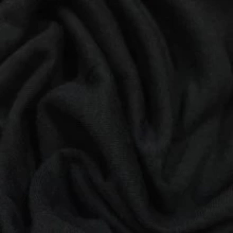 Black Organic Cotton Interlock - Grown in the USA
