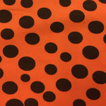 Black Dots on Orange Cotton/Spandex Jersey