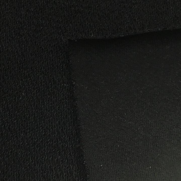 Black Heavy Organic Cotton French Terry - Grown in the USA, $16.25/yd, 15 Yards