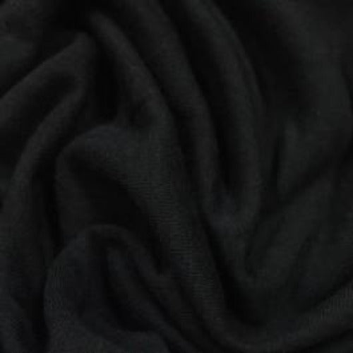 Black Bamboo Hemp Stretch Jersey - 310 GSM