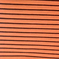 Black Micro Stripes on Orange Cotton/Poly Jersey