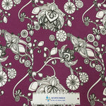 Blooms on Plum Bamboo/Spandex Jersey