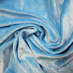 Medium Blue Bamboo Velour, $8.90/yd -Rolls