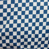 Checkered Flag! Blue and White Checks on Cotton Jersey