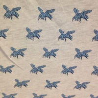 Blue Bees on Organic Cotton Jersey