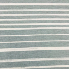 Blue Gray and White Stripes on Bamboo/Spandex Jersey