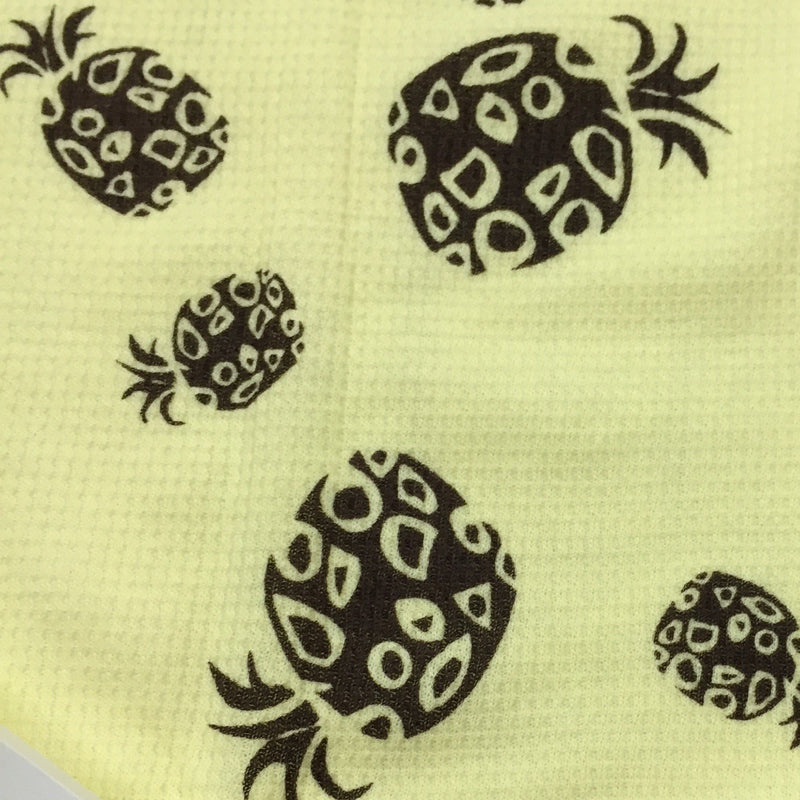 Brown Pineapples on Yellow Cotton Thermal