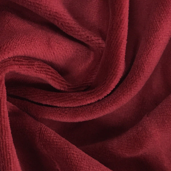 Burgundy Cotton Velour
