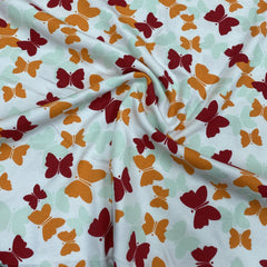 Butterflies on Organic Cotton Thermal
