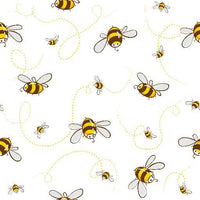 Buzzing Bees 1 mil PUL - Made in the USA