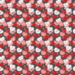 Candy Hearts on Bamboo/Spandex Jersey