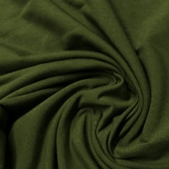 Capulet Olive Bamboo Stretch French Terry - 300 GSM, $8.70/yd - Rolls