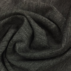 Charcoal Heather on Black Double-Sided Merino Wool Jersey