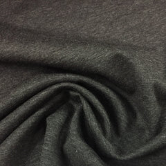 Charcoal Heather Bamboo/Spandex Rib Knit - 300 GSM